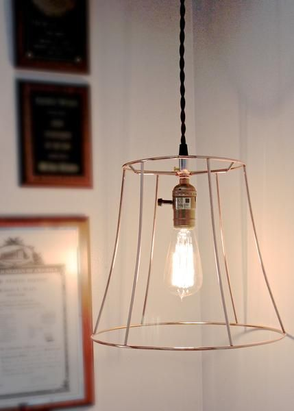 Copper Hanging Pendant Light Fixture