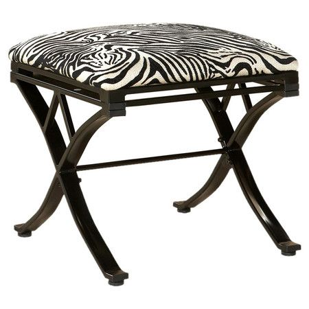 Vanity Stool With Zebra Print Upholstery Product Stoolconstruction Material Wood And Fabriccolor