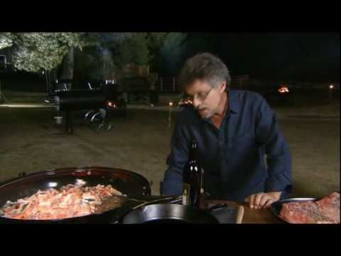 Primal Grill with Steven Raichlen  (2 inch steaks directly on natural fire, old school style)  http://www.youtube.com/watch?v=iGpQg6DWvAY
