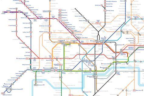 La mappa della Tube che mostra dove sono le toilette nella metro di Londra