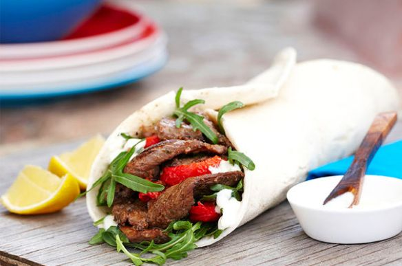 Lamb souvlaki wraps | food glorious food | Pinterest