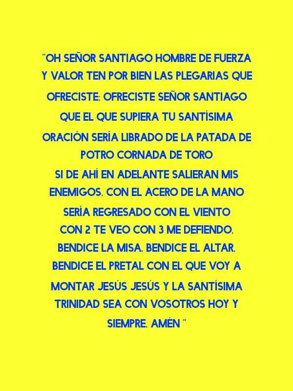 Oración de Santiago apostol