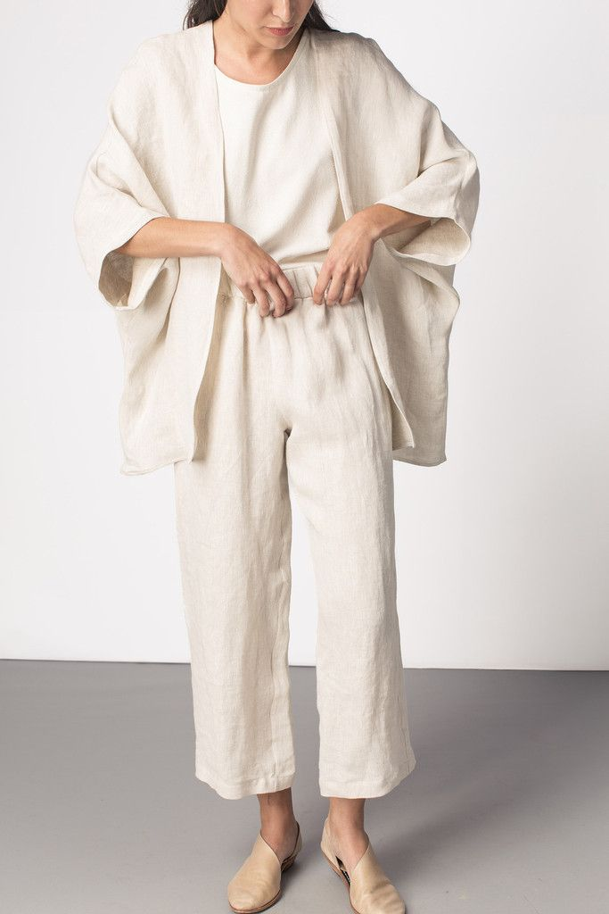 Emma Kimono Flax Linen | TGB INSPO | t the-great-beyond.com
