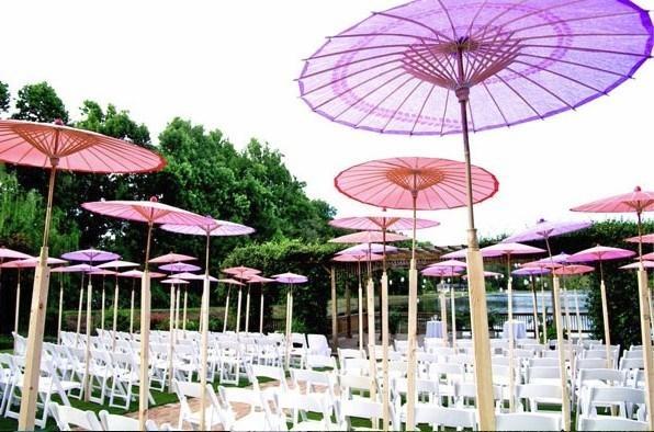 Ombrelles chinoises en papier: pour la deco de mariage uniquement