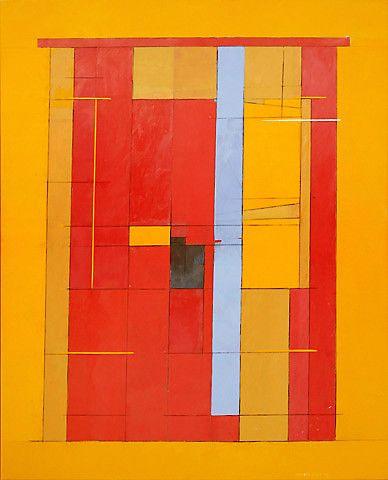 Irma Salo Jæger <em>Sommerbilde</em><br />akryl og tempera på lerret, 162x131 cm