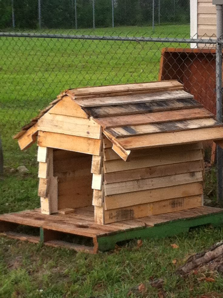 Dog house made from pallets misc things pallet dog - Things to consider when building a house ...