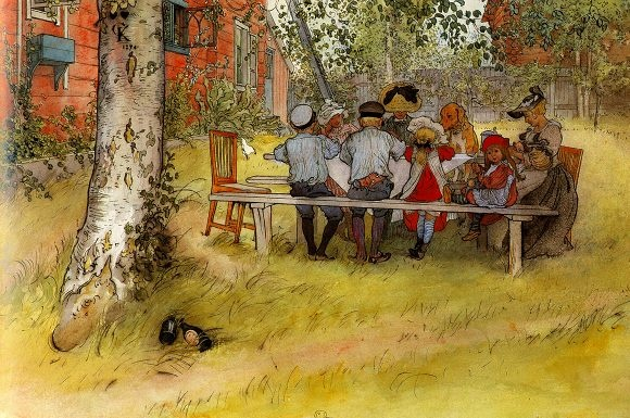 Breakfast  Carl Larsson: Carl Larson, Big Birches, Carl Larrson, Breakfast, Art, Carl Larsson, Carllarsson, Paintings, Prints