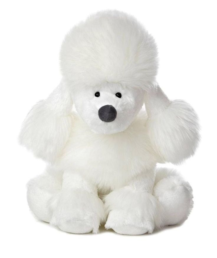 white poodle puppy stuffed animal