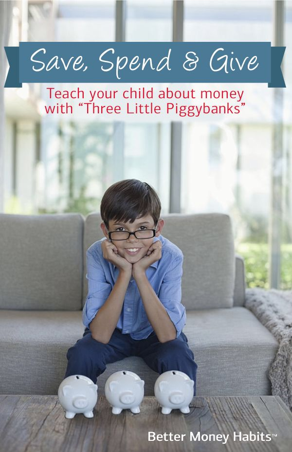 When it comes to piggy banks, three is better than one. Find out how you can help your kids save, spend and donate their money from a young age. #BetterMoneyHabits