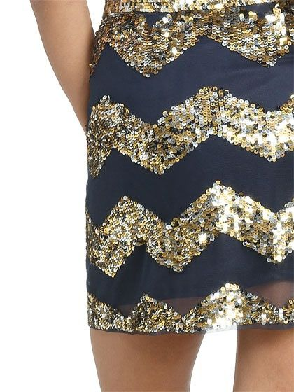 sequin / chevron mini