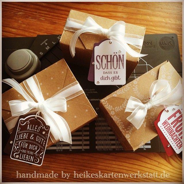 Rechteckige Boxen mit dem Stanz- und Faltbrett für Geschenkschachteln