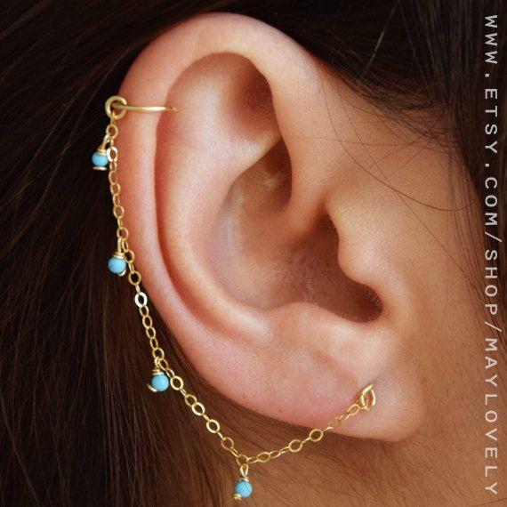 Helix oorbel, ketting, oorbel, helix hoepel, kraakbeen keten Earring Helix - Helix Piercing Earring - Helix hoepel