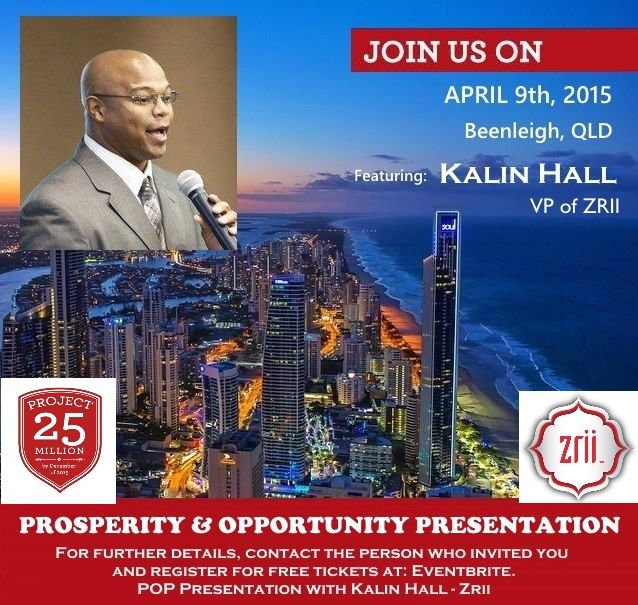 Want to know more about the Zrii products or how this company provides 3  x 5 star global destination trips per year, all inclusive? Come along if in the Brisbane / Gold Coast areas, reserve your seat via eventbrite as seating is limited. https://www.eventbrite.com.au/e/pop-presentation-with-kalin-hall-zrii-tickets-16265450400  If you cannot make it or in another state, lets connect and I will fill you in :)