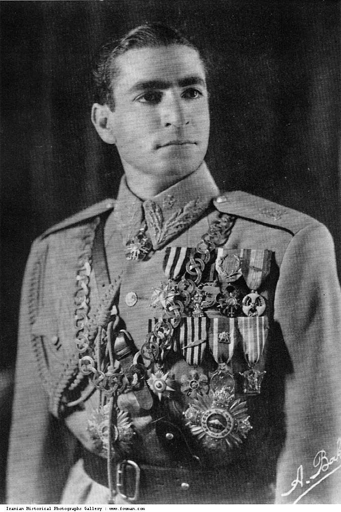 Second Pahlavi king, Young Mohammad Reza Shah, the last shah of Iran (1941-79), soon after his accession to the throne at the age of 21. After abdication of his father Reza Shah by invading Allied Powers in 1941 he became the puppet king.