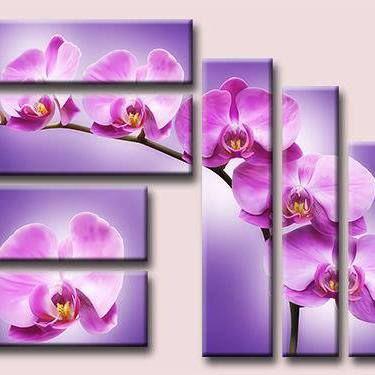 Triptico primaveral de orquídeas
