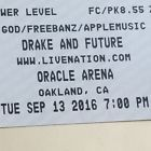 Ticket Drake and Future Concert 2 tickets Summer Sixteen tour Oracle CA 9/13/16lower Le #Deals_us