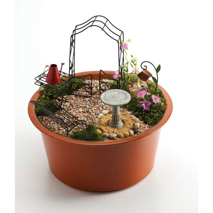 its a fairy garden kit great project for kids and adults it comes with. beautiful ideas. Home Design Ideas