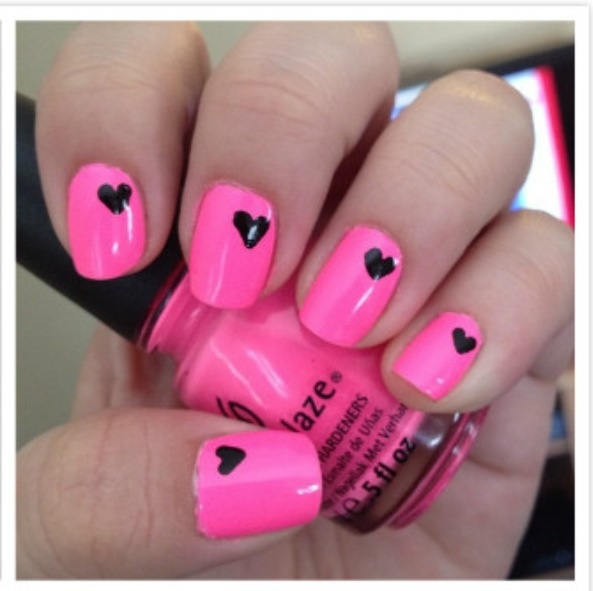 Pretty pink nail design! - Pretty Pink Nail Designs Nail Designs, Hair Styles, Tattoos And