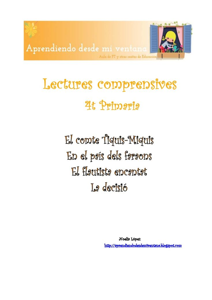 Lectures comprensives 4t Primaria català by NoeliaLI via slideshare