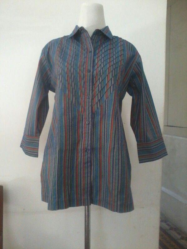 Batik lurik, blouse size S/M, direct wa 08812775835