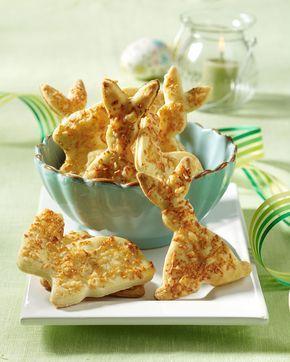 Käsehasen - Ein pikantes Gebäck mit geriebenem Parmesan für den Osterbrunch