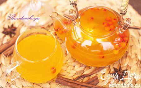 Праздничный чай из облепихи с апельсином | Кулинарные рецепты от «Едим дома!»