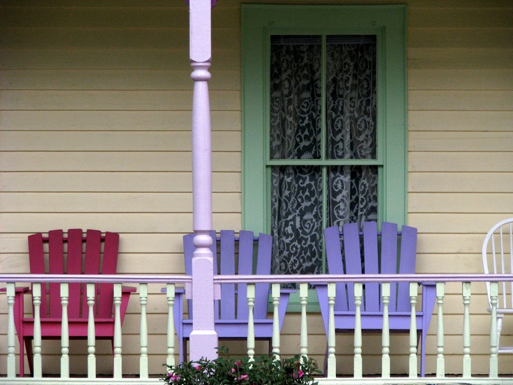 Reidsville GA Tattnall County Historic Old Nelson Hotel Front Porch Pastel Adirondack Chairs Victorian Architecture Photo Copyright Brian Brown Vanishing South Georgia