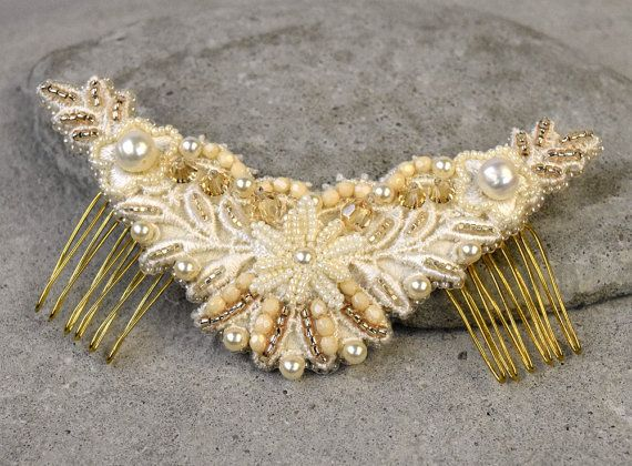 Hey, I found this really awesome Etsy listing at https://www.etsy.com/au/listing/206610016/cream-hair-comb-small-hair-comb-pearl