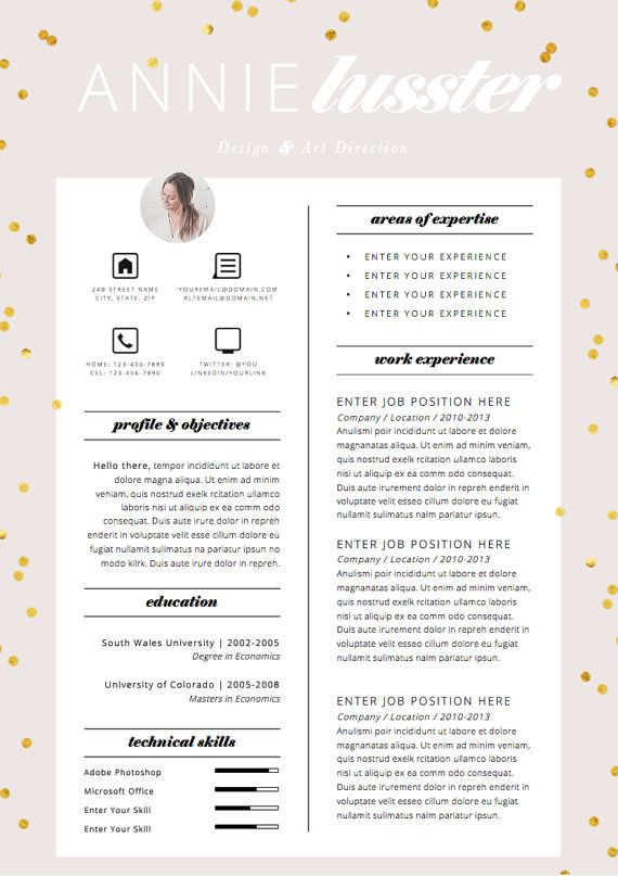 97 best Resume Design images on Pinterest Resume design, Resume - cover letter word templates