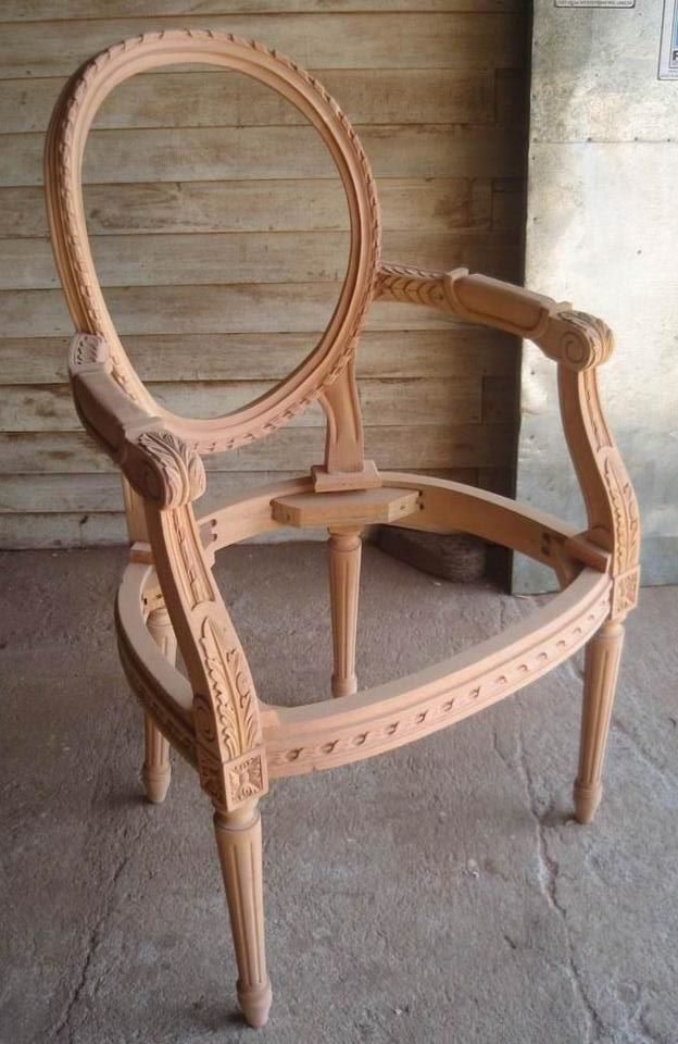 Unfinished classic furniture wooden frame chair unfinished oval back chair mahogany supplier classic chair indonesia classic reproduction furniture