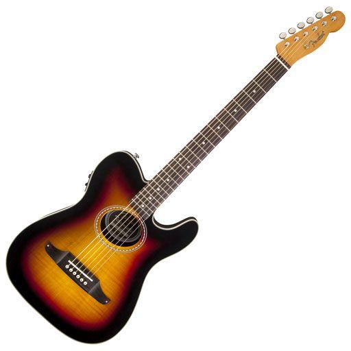 Fender Telecoustic Premier, Rosewood Fingerboard, 3-Color Sunburst (Sale)