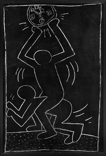 Untitled (subway Drawing) 12 by Keith Haring - art print from Easyart.com