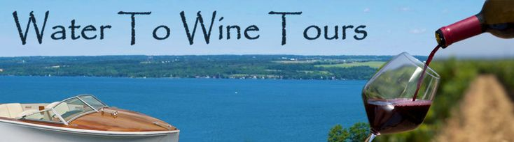 "Water to Wine Tours take you on a winery tour of the Cayuga Lake Wine Trail - by boat! ""Tour award winning Finger Lakes wineries from a boat along a beautiful and scenic glacier lake."""