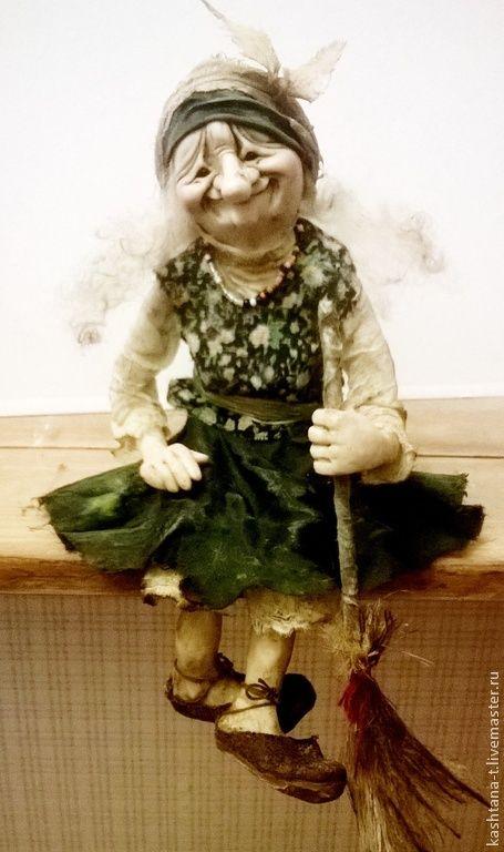 """Купить Куколка """"ЯГУШКА"""" - болотный, баба-яга, сказочный персонаж, коллекция, подарок, единственный экземпляр"""