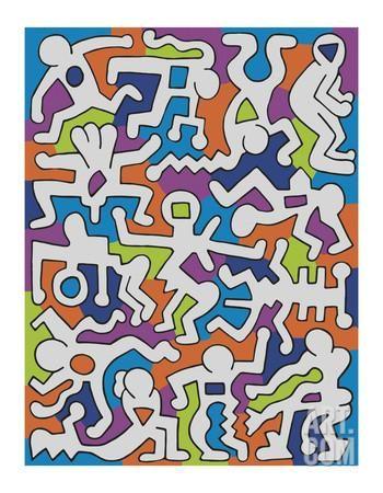 Untitled (Palladium Backdrop), 1985 Giclee Print by Keith Haring at Art.com