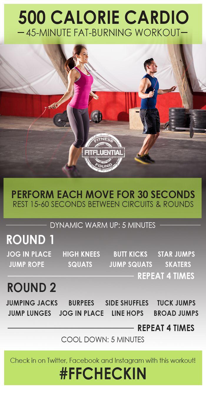 Esta rutina de 45 minutos de cardio para quemar 500 calorías será tu mejor aliado en tu camino a conseguir el cuerpo que deseas.