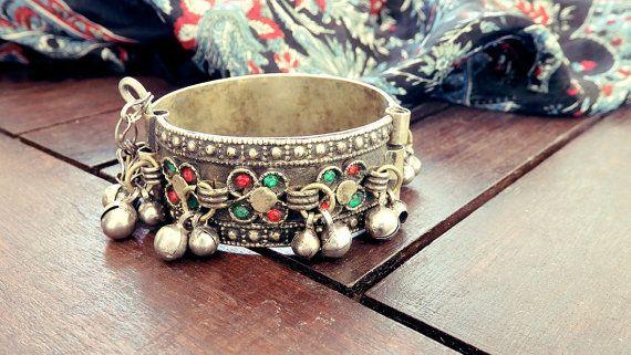ON SALE  RARE Antique cuff bracelet old cuff Afghan by CarmelaRosa