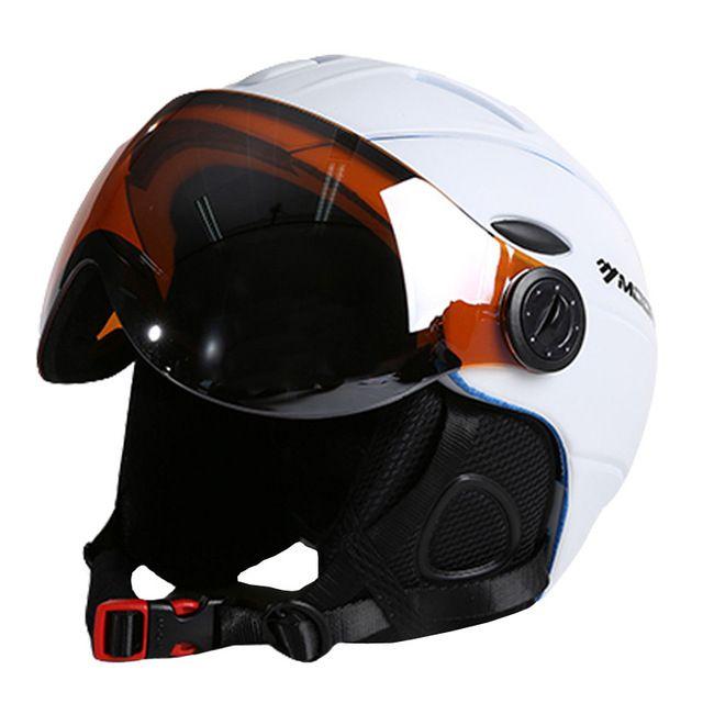 Moon esquí casco integralmente moldeado pc + eps ce certificado de adultos casco de esquí al aire libre deportes snowboard/skate casco