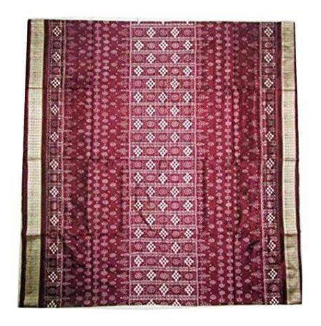 Exclusive Brown Sambalpuri Ikat Silk Saree with Blouse Piece