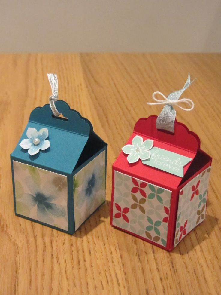 Stampin Up Tag Topper Gift Box, handmade!