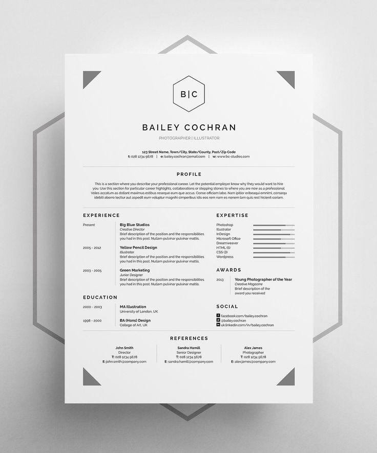 Resume Template   CV Template Logan Resume CV Template Word - it professional resume template word