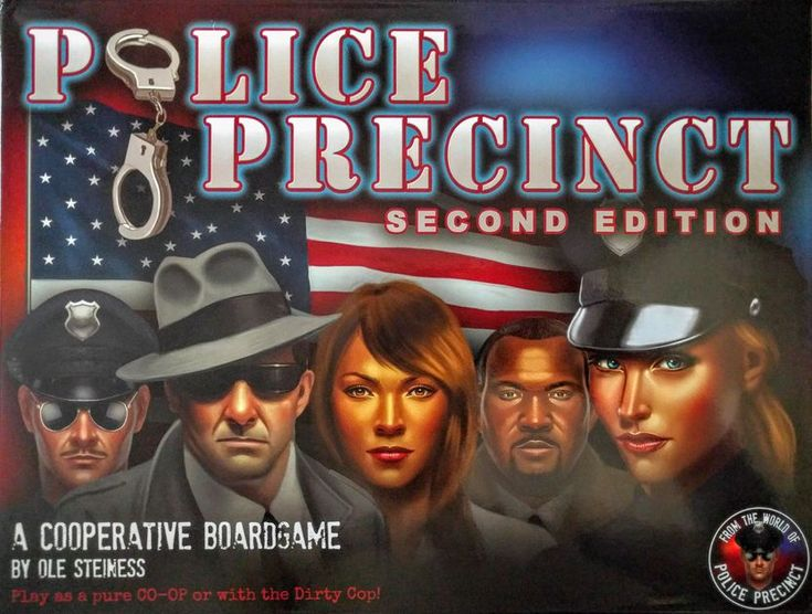 Police Precinct is a cooperative/semi-cooperative game where players are tasked with solving a mysterious murder while simultaneously working to keep crime on the streets under control, and to keep the city from falling into chaos.  Players take on the role of police officers with different areas of expertise.  The players work together to solve the mystery by collecting evidence and eventually arresting the suspect.  Complicating matters is the fact that there may or may not be a corrup...