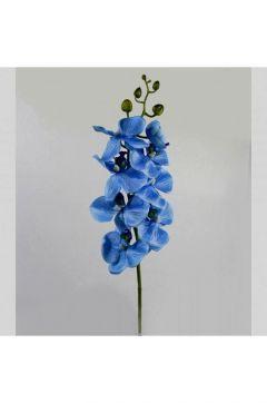 DesenHome Yapay Mavi Kumaş Orkide Dal 85 Cm