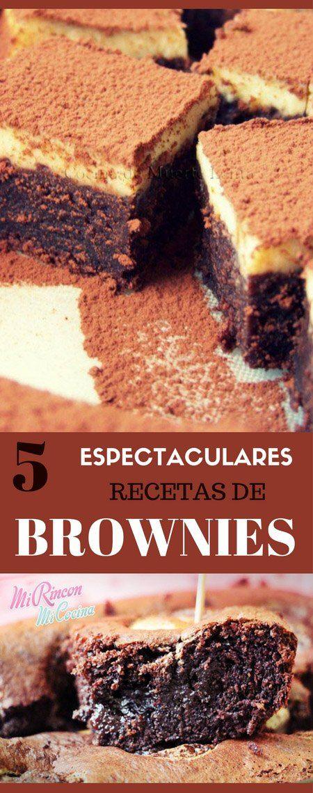5 espectaculares recetas de Brownies