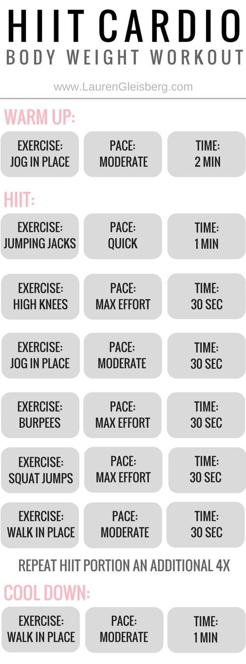20 MIN BODY WEIGHT HIIT WORKOUT