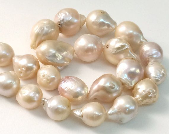 Baroque Pearls Natural Fresh Water Baroque Pearls by gemsforjewels