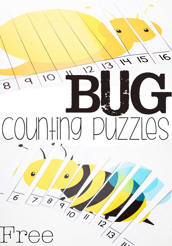 Practice skip counting this spring with these free bug counting puzzles!