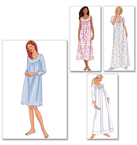 B6838 A good nightgown pattern to go with a linen or cotton, why does no body make non-knit nighties?