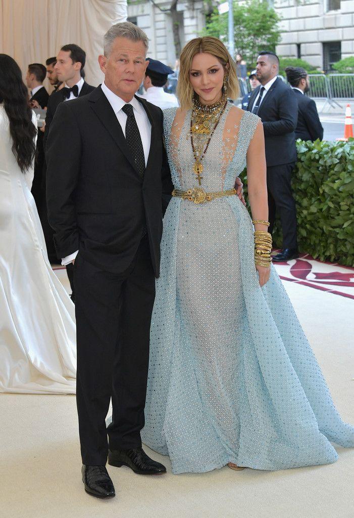 Katharine Mcphee And David Foster Red Carpet Couples Gala Dresses Met Gala Photos
