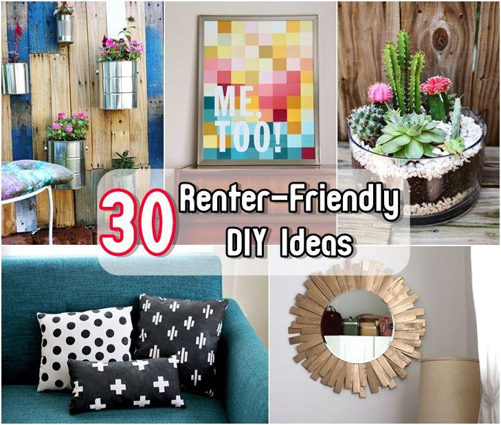 30 Renter-Friendly DIY Ideas